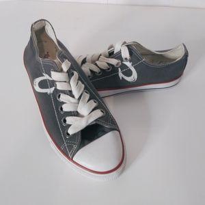 Mens True Religion Dark Gray Lace Up Sneakers SZ 9